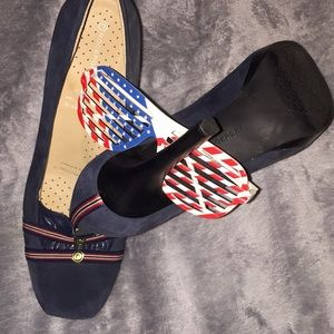 Rockport adiprene by adidas red whit blue 9.5 heel